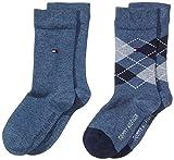 Tommy Hilfiger Jungen Socke 2 er Pack TH Kids Original Argyle, Gr. 39 (Herstellergröße: 39-42), Blau (jeans 356)