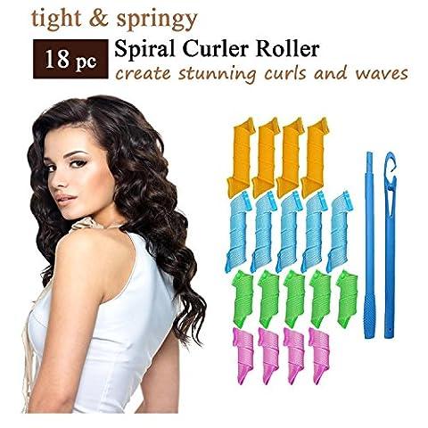 Spirale Curl Rouleaux - Nouveau Style fers à Friser en Spirale Cheveux - Curling en Spirale de Luxe Outils de Cheveux avec 4 Couleurs / Magic Hair Spiral