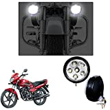 #6: Vheelocityin 5 Inch 6 LED Motorcycle Light Fog Lamp Auxiliary Lamp Light - set of 2 For Honda Dream Yuga 2015