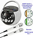 BLUETOOTH Portable Karaoke Machine & CD Player - Family PARTY PACK 1 - Best Reviews Guide