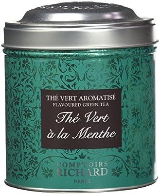 Comptoirs Richard Thé Vert Menthe Boîte Métal Vrac 80 g