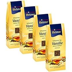 Meßmer Schwarzer Tee Vanille Ganzes Teeblatt 4er Pack
