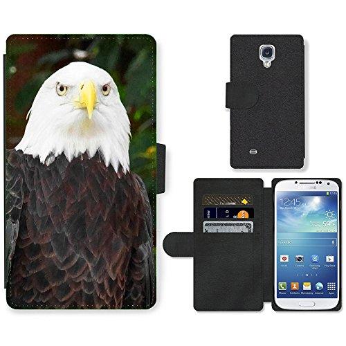 hello-mobile PU LEDER LEATHER FLIP CASE COVER HÜLLE ETUI TASCHE SCHALE // M00136788 Vogel Weißkopfseeadler Adlerfeder // Samsung Galaxy S4 S IV SIV i9500