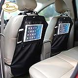 Rückenlehnenschutz - Rückenlehnenschutz für Kinder Auto Rücksitz-Organizer mit großen Taschen Kick-Matten Schutz Hochwertige Utensilientasche für iPod, Notebook, Kindle, iPhone,Getränke und Spielzeug