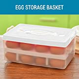 #5: Tied Ribbons Portable Double Layer 24 Egg Storage Container Airtight Plastic Box (Assorted Color)