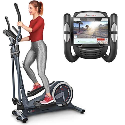 Sportstech Vélo elliptique CX625 ergomètre Compatible avec Application Smartphone, Poids d'inertie de 24 KG, 22 programmes de Fitness avec HRC, Porte-Tablette (CX625)