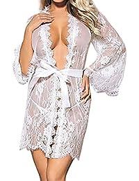 a29db8105c94af Dtuta Damen UnterwäSche Baby Puppe Spitze Bandkleid Robe Mantel Pyjamas