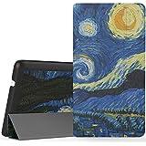 MoKo Lenovo Tab 3 7.0 Funda - Ultra Lightweight Slim-shell Stand Cover Funda para Lenovo Tab 3 7 Inch Tablet 2016 Release, Noche Estrellada