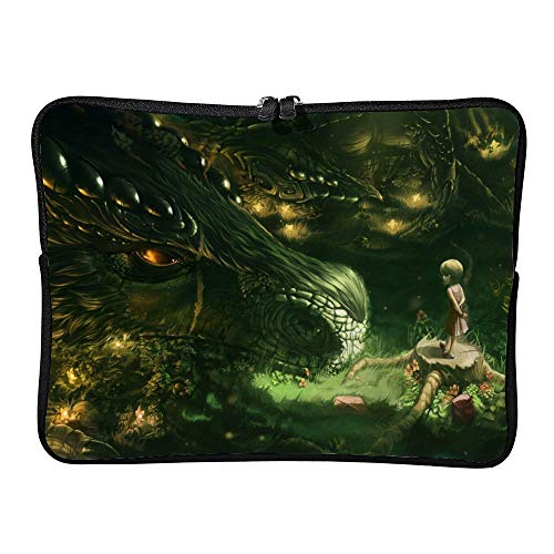 Ancient Dragon with Girl 15 Inch Protective Laptop Sleeve Ultrabook Notebook Carrying Case Compatible with MacBook Pro MacBook Air Tablet Briefcase Bag -