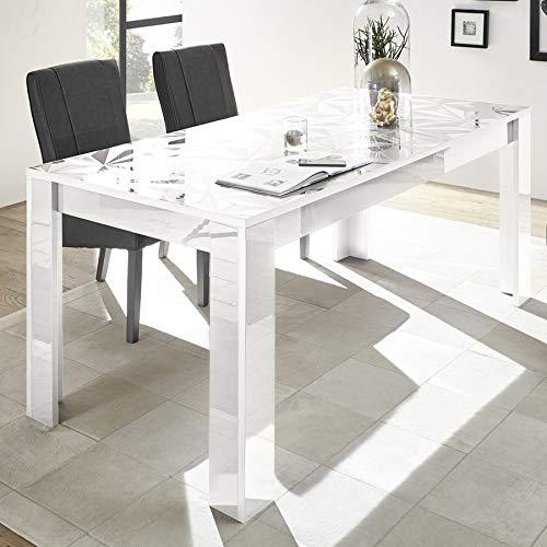 NOUVOMEUBLE Mesa de Comedor 180 Blanco Lacado diseño con ...