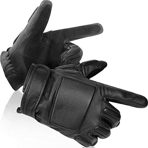 normani Security Lederfingerhandschuhe mit Protektoren und Kevlar®-Einlage Lawbringer Größe M (Rindsleder Wildleder-handschuhe)