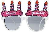 Lustige Partybrille im Geburtstagsdesign