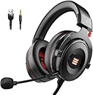 EKSA E900 Pro Gaming Headset Xbox One Headset with 7.1 Surround Sound, PS4 Headset Noise Cancelling Over Ear H