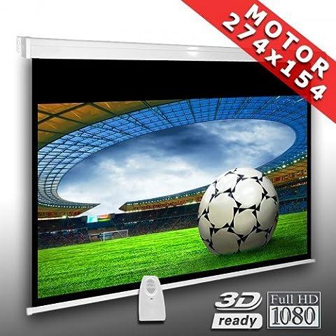 16:9 Écran videoprojecteur motorisé 274 x 154 cm