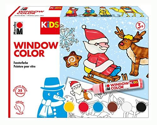 fenstermalfarben Marabu 306000000003 Kids Window Color Christmas 6 x 25 ml, bunt