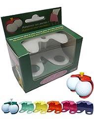 ClipBalls - Porte-balles de golf de ceinture. Le cadeau idéal pour tous les golfeurs. 1 ClipBalls offert pour 3 achetés.