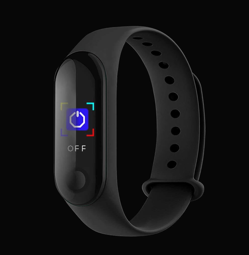 BATHRINS Pulsera Inteligente de Seguimiento de Fitness, M3 IPS, Pantalla Impermeable IP68 Pulsera de Actividad con Monitor de presión Arterial de precisión HR para Android iOS 9