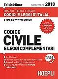 Codice civile e leggi complementari 2018. Ediz. minore. Con espansione online