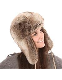 New Mens Ladies Unisex Faux Fur Trapper Warm Winter Thermal Hat A782 60cm