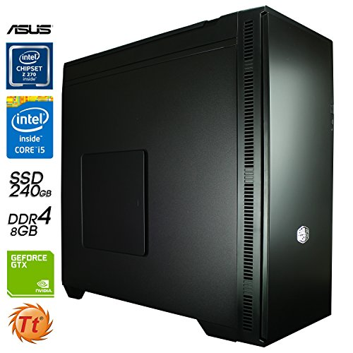 SNOGARD MediaLine Professionell PC | Intel Core i5-8400 CPU | 8GB DDR4 | 240GB SSD + 3TB HDD | 2GB Nvidia GF GTX1050 Ti • Home Business Computer & Multimedia Desktop Computer Workstation + Gaming PC