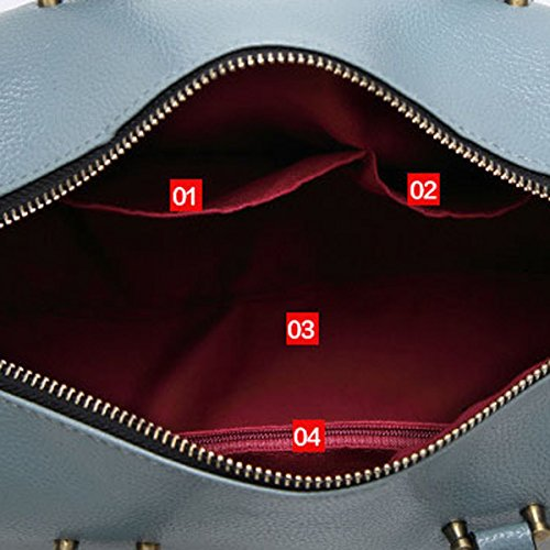 Frauen Handtasche Schultertaschen Taschen-Handtasche Messenger Umhängetasche Multicolor Black