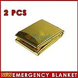 Reixus(TM) 2 PCS impermeables supervivencia de la emergencia de l?¢minas t??rmica de primeros auxilios de rescate Manta herramientas al aire libre