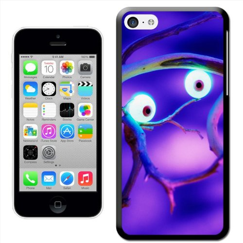 Fancy A Snuggle 'Sensenmann mit Rot leuchtenden Augen' Hard Case Clip On Back Cover für Apple iPhone 5 C Spooky Eyes In Haunted Forest
