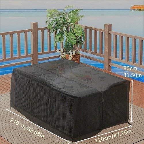 Funda para mesa y silla de jard n impermeable funda para mesa de jard n ebay - Amazon mesas de jardin ...