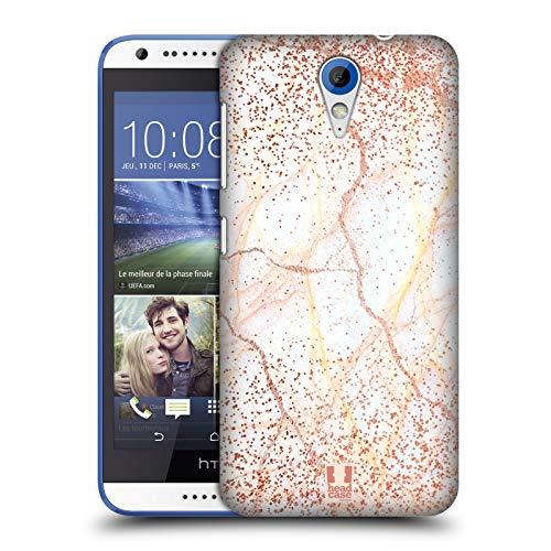 Head Case Designs Rose Gold Marmor Glitzer Druecke Ruckseite Hülle für HTC Desire 620/620 Dual SIM