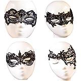 De octubre de elfo para disfraz fiesta de máscaras de mujer suave de encaje bar máscara de ojo 4pcs