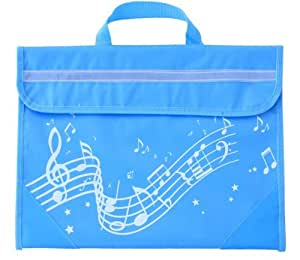 Wavy Stave Music Bag - Light Blue