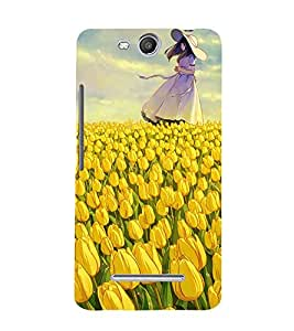 Beautiful Girl 3D Hard Polycarbonate Designer Back Case Cover for Micromax Canvas Juice 3 Q392