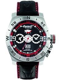 Ingersoll  IN3603BK - Reloj de bolsillo de automático para hombre, con correa de cuero, color negro