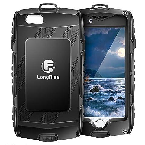 iPhone 6Plus Coque résistante: Coque [chute Protection] [fingprint] Housse de protection pour iPhone 6Plus 6S Plus 14cm Sports d'extérieur Cas d'identification avec [d'escalade et de randonnée Crochet],