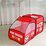 #3: PIGLOO® Kids Fire Truck Play Tent - Pop up Foldable Fire Engine,Durable Indoor and Outdoor Imaginative Playhouse Ages 3+ Years, 140 x 70 x 70 cm