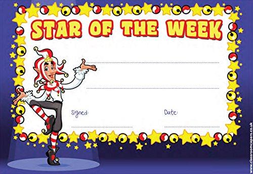 30x Star der Woche Zertifikat Awards für Lehrer/Schulen -