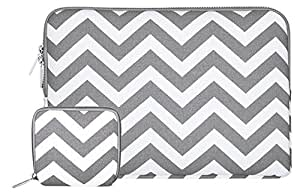 MOSISO - Stile Chevron Tessuto di Tela Custodia Borsa Involucro Sleeve Case per Laptop / Notebook / Computer Portatile / MacBook / MacBook Pro / MacBook Air da 13-13.3 Pollici, Grigio