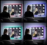 My Dari Light Hollywood Spiegel Theaterspiegel Spiegel mit glühbirnen schminkspiegel (Mit Touch-Schalter & Große Lampen 6,0 cm)