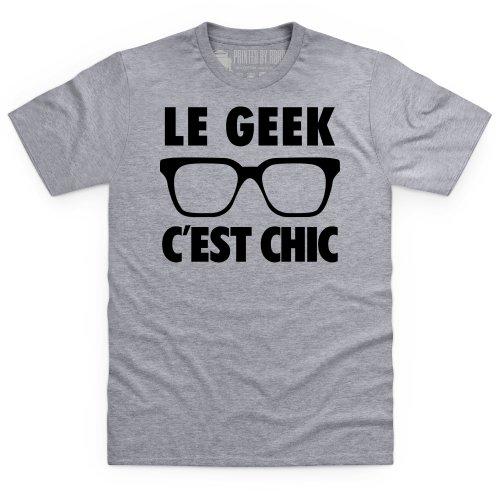 Le Geek T-shirt, Uomo Grigio mlange