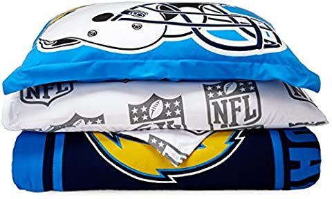 NFL San Diego Chargers Soft & Cozy Twin Comforter Set (5 Piece), 64