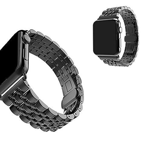 Chofit Sangle de remplacement pour iWatch, Acier inoxydable Bracelet réglable