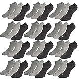 PUMA Unisex Invisible Sneaker Socken 12er Pack, Größe:35-38, Farbe:anthracite. lightr grey mel/middle grey mel