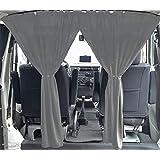 VW T3 T4 Multivan Transporter Caravelle maat gordijnen bestuurdershuis afscheiding kleur: grijs