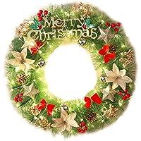 BGHFXS Iluminación Guirnalda Ornamentos de Navidad de 30/40 / 50/60 cm Garland Puerta Colgando Adornos Hotel Shopping Center * Layout Props,30cm