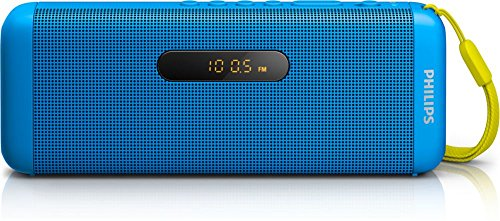 Philips SD700A Enceinte Bluetooth sans Fil avec Port USB, Carte MicroSD, Radio FM, Compatible Android, iPhones, Samsung, Bleu