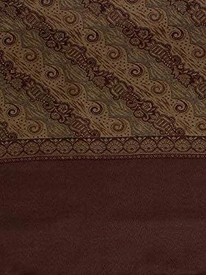 Weavers Villa Women's Shawl (WV705-COFFEE_Coffee_L)