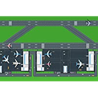 Be-Active Giant New Airport & Runway Road Playmat - A fun addition to the bedroom, nursery or classroom (150 x 100cm)