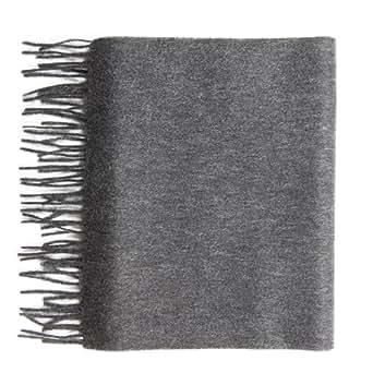 Pure Cashmere plain scarf, Grey