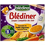 Blédina Blediner Soupe Légumes Et Semoule 2 X 25Cl - Paquet de 4