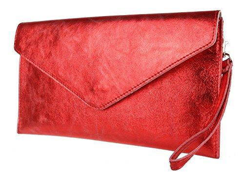 Elegant Fashions, Poschette giorno donna Metalic Red